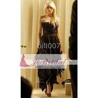 Gossip Girl Dresses Season 3 Jenny Sheath/ Column Sweetheart Floor-length Chiffon Elastic satin 0445
