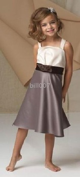 A-line Spaghetti Straps Knee- Length Flower Girl Dresses 2009 Style SKU510165