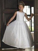 2010 first communion SKU5300051 sleeveless custom made flower girl dress.