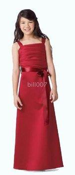 A-line Spaghetti Straps Floor- Length Flower Girl Dresses 2009 Style SKU510131