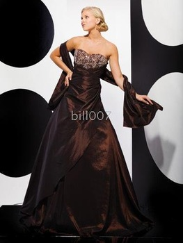 Ball Gown Strapless Floor-Length 2009 Style Gown Dress SKU610005
