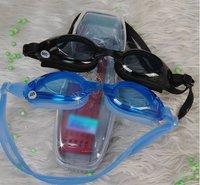 Wholesale--100pcs/lot blue and black eye glasses/eyewear/plastic eyewear for swimming + free shipping