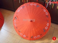 10Pcs/Lot Floral Pattern Bamboo Silk Umbrella Hand Painted Coloured Parasol For Wedding Travelling