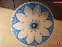Chinese Style Hand Painted Class China Flower Paraso Bamboo Umbrella High-Grade Cotton Paper