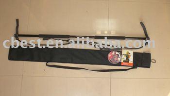 wholesale black color gym stick, resistance is 1-20kgs/2-44lbs,fiberglass tube