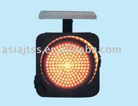 solar yellow flash traffic light