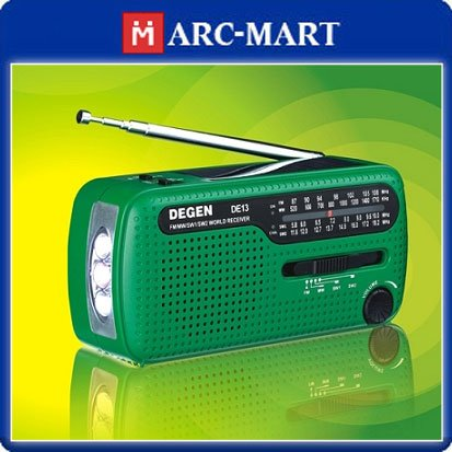 Degen DE13 FM AM SW Crank Solar Power Emergency Crank Dynamo Radio Hand Cranking World Band Environmental Receiver #OT061(China (Mainland))