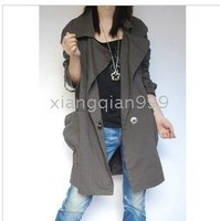 Ms. New Great windbreaker jacket lapel Women's Trench Coats