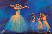 "Oil painting portrait nice ballet girls dancing 24""x36"""