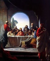 "24""X36"" art Oil painting Jesus Christ ""the last supper"""