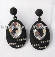 Gemstone's earrings from ornament factory
