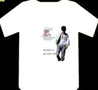 fashion cotton T-shirt 180gsm cotton tee printing tshirt