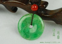 Natural A Burma Jadeite Jade \ Green Pendant\ ward off evil patron saint\SUPER BUY