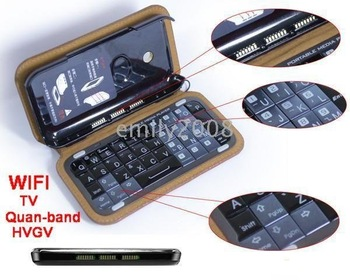 T2000 Quadband Dual Card Cellphone+4G card+TV WiFi Flat Touch Screen FM MP5 MP4