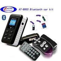 5pcs car bluetooth handsfree car kit car mp3 fm transmitter + USB/SD/MMC AT-B003