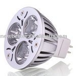 Free shipping 3x1W led lighting GU5.3  90% energy saving