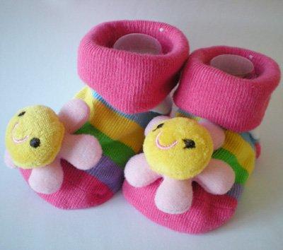 Meias infantis Calçados sapatos bota 26pairs / muito novo com caixa Meias bebê Sapatinho(China (Mainland))