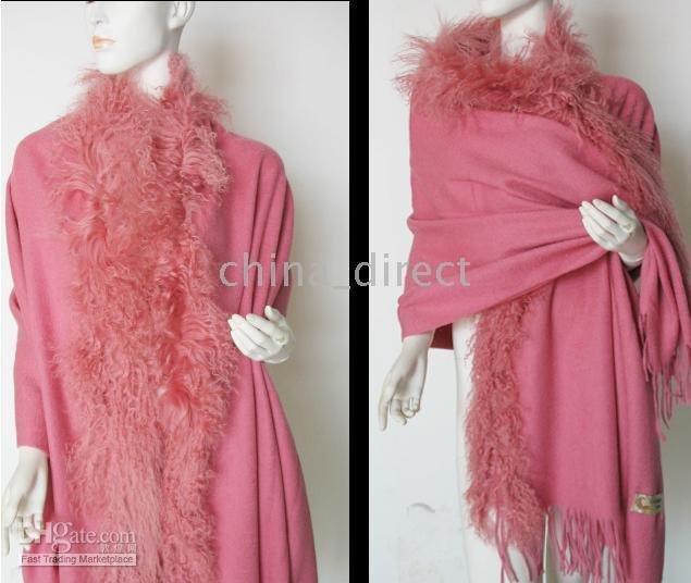 wrap Scarves 2015 ponchos wool scarf shawl cool wraps shawls new fur fringed wool(China (Mainland))