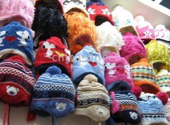 Boys Cap Crochet Bonnet tamhat Hats 24pcs/lot new LOTS girls Beanie