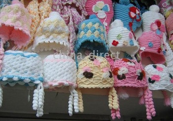 tamhat Hats 24pcs/lot LOTS girls Beanie Boys Cap Crochet Bonnet