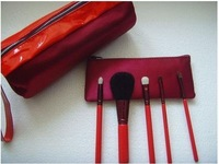 wholesale--20sets/lot brand new red 5pcs per set cosmetic set/personal care set/color cosmetic+ free shipping & gift