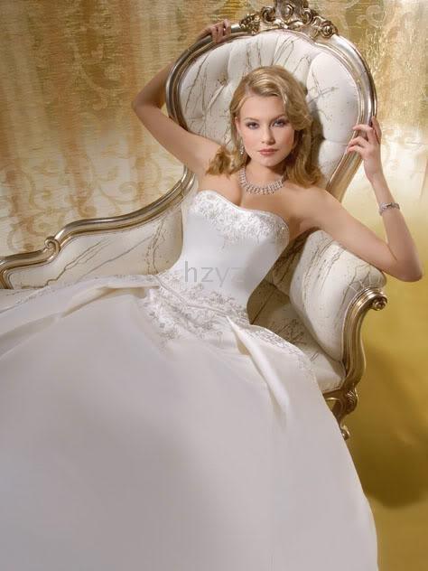 longa cauda bordado casamento/vestido noiva vestido personalizado- feito novo perfeito sexy(China (Mainland))