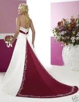 2014 Seconds Kill Special Offer Freeshipping A-line Criss-cross Full Zipper Brautkleid Hochzeitskleid Abendkleid Formales Kleid