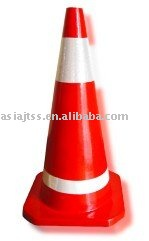 700mm red rubber road cone(China (Mainland))