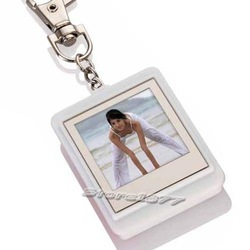 "WHITE 1.5"" LCD Digital Photo Frame USB Key Chain 16MB Brand new and free shipping(China (Mainland))"