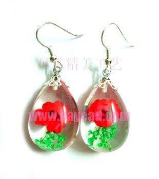Fashionable Real flower Earring Jewellery,flower jewelry,cute jewelry,luite jewelry