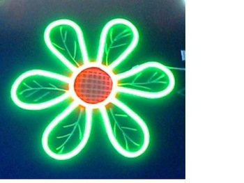 LED Neon Flex Light/2-wired with single color(green)LED Neon Flexible;Size:32*34mm;160LEDs/m;with 50m Length per Roll