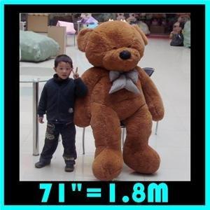 "TEDDY BEAR 71"" GIANT TOY SIZE 1.8m STUFFED PLUSH NEW D"