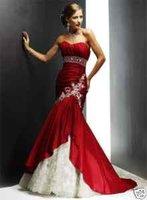 Stock Red Wedding Dress Bridal/Bridesmaid Gown UK Sz 8