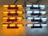 Car styling, Traffic light, Alarm warning 72 LED Emergency Truck Strobe Light Amber/White
