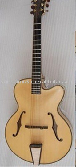 wilkinson pickup, 2 f holes, solid cedar, hand made jazz guitar(China (Mainland))