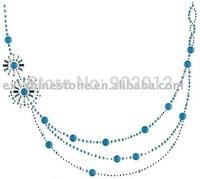 Wholesale Korean Rhinestone Iron On Motif Neckline Design Free Shipping