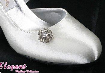 1 pair/lot white Bridal Custom-made New fashion Exquisite Design Evening/Wedding/Party Shoes E0618