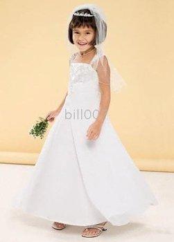 full tulle skirt Flower Girl Dresses DB Style FG9010 spaghetti straps over