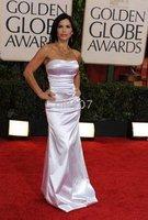 2010 Golden Globe Lauren Sanchez Trumpet/ Mermaid Strapless Floor-length Sleeveless Elastic satin