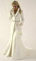 Winter Wedding Dresses Cloak floor-length wedding Coat for bride