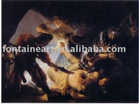 Handmade Rembrandt Painting,The Blinding of Samson,freeshipping