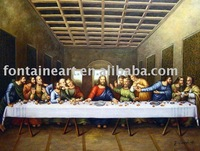 Handmade Leonardo Da Vinci oil Painting Repro,the last supper,religious Bible Theme,freeshipping