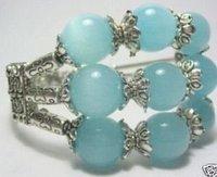Genuine tibet silver blue jade bracelet