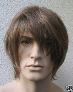 New Vogue short brown synthetic men's healthy wig/wigs(China (Mainland))