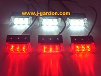 car light source Factory Direct New 6x 3 LED Emergency Truck Strobe Red/White Light car styling Light Bar