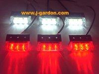 car light source Factory Direct New 6x 3 LED Emergency Truck Strobe Red/White Light car styling Light Bar