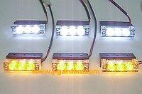 car light source New 6x 3 LED Emergency Truck Strobe Amber/White Light car styling Light Bar