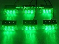 New 6x 3 LED Emergency Truck Strobe Green Light