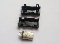 1000 Sets Mini USB Plug Male Socket Connector 10 Pin Plastic