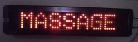 P7.62mm indoor used led screen,one red and one green LED per pixel color for Message Display;100mm*440mm*34mm;P/N:M500N-7*50RG